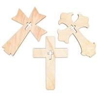 Bright Creations Holzkreuz stehend 18 cm Hellbraun 12 Stück