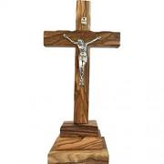 Heiliges Land Markt Olivenholz stehendes Kreuz mit Kruzifix. 20 3 cm ohne Ständer.
