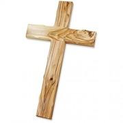 Wandkreuz Olivenholz Jerusalem modern geschwungen 16 cm Kreuz Kruzifix