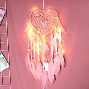 Eurobuy Traumfänger für Schlafzimmer hohles Herz Form Exquisite Feder Traumfänger Wand hängen Dekoration Traumfänger Netz Home Auto Hochzeit Dekoration Geschenk