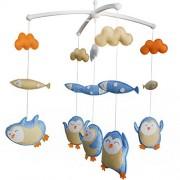 Hängende Krippe Spielzeug Bunte Dekor Spielzeug [Happy Penguin] Crib Mobile