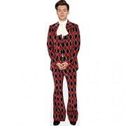 Celebrity Cutouts Harry Styles Red Suit Pappaufsteller lebensgross