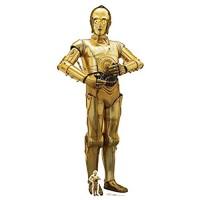 Star Cutouts Ltd C-3PO The Last Jedi Ausschnitt Pappe Mehrfarbig 179 x 80 x 179 cm