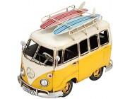 Lebendige Retro Bus Miniatur Eisen Material Modell Figur Ornament niedlichen Mini Antique Crafts Spielzeug für Kinder Geschenke Home Desk Dekor