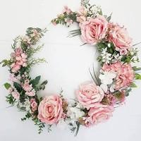 Osterdekoration Metallgirlande Rattan Kranz Künstliche Blumen DIY Blatt Kind Geschenk Hochzeitsdekor Babyparty Geburtstagsfeier Home Supplies