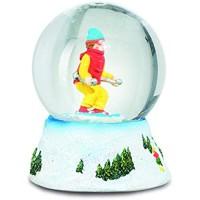 Impexit Schneekugel Skifahrer aus Kunstharz 6/4 5/4 5 cm c