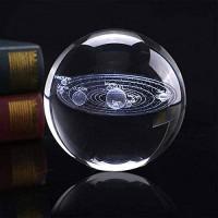 liangzishop Kristallkugel 3D-Lasergraviertes Sonnensystem Kristallkugel Astronomie-Sphäre Glas-Verzierungsgeschenke Dekoration Ball Schneekugeln Color : Ball Size : 8cm