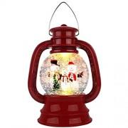 Weihnachtliche Schneekugel mit Glitzer Windlicht batteriebetrieben für Erwachsene und Kinder Schneemann
