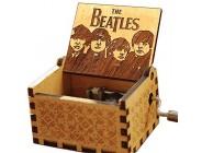 """Cuzit Musikbox Antik-Optik geschnitzte Spieluhr mit Handkurbel - Melodie: """"The Beatles - Let it Be"""" - Holzspieluhr Spielzeug"""