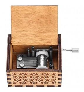 Handkurbel Musikbox Hölzerne Handkurbel Spieluhr Vintage Hand Eingraviert aus Holz SpieluhrHP