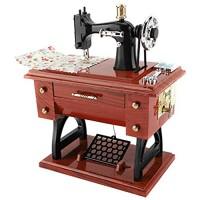 Raguso Nähmaschinen-Stil Spieluhr für Sammlung Jubiläum Geburtstag Geschenk Tischdekoration Spielzeug für Kinder
