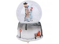 Spieluhr mit Schneekugel Weihnachten Die Liebhaber Form Licht Lampe Musik Nachtlicht Desktop Ornament Wohnkultur