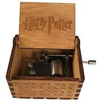 WZZD Hölzerne Spieluhr Klassische Geschnitzte Handgekurbelte Spieluhr Home Decoration Crafts Für Kinder Freunde Harry Potter
