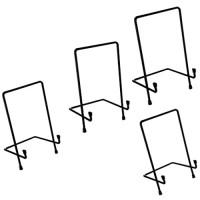HomeDecTime 4 Stück Eisen Tellerständer Tellerhalter Aufsteller Staffelei Ständer Bilderständer S/M/L/XL gemischt