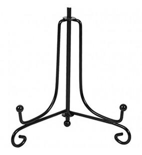 Zerone Klassischer Ständer aus Eisen Schwarz 4 Stück 10 schwarz