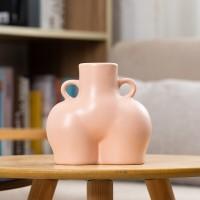 Abstrakten Menschlichen Körper Vasen Kreative Keramik Handgemachte Butt Vase Wohnzimmer Desktop Blume Anordnung Container Home Dekoration Vasen