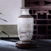 Antike Jingdezhen Keramik Vase Vintage Vase Schreibtisch Zubehör Handwerk Schnee Blumentopf Traditionellen Chinesischen Stil Porzellan Vase