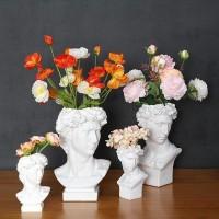 Harz Vase Dekoration Make Up Pinsel Lagerung Box Stift Halter Europäischen Stil Dekoration Kopf Skulptur Modell Hochzeit Vasen