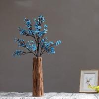 Kreative Chinesischen Holz vase Gefälschte blume anzug Künstliche blume dekoration Home Dekorationen Retro manuelle Holz handwerk Desktop Vasen