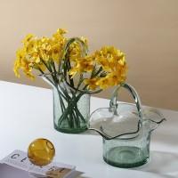Kreative Glas Vase Blume Terrarium Tasche Warenkorb Transparent Vase Hidroponia Promi Vaso Decorativo Weihnachten V6O Vasen