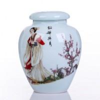 Vier Schöne Frauen Keramik Große Tee Caddy Box Porzellan Versiegelt Kung Fu Tee flaschen & gläser Lagerung Kanister Dekorative Vase decorative vase big ceramic vasesvases big