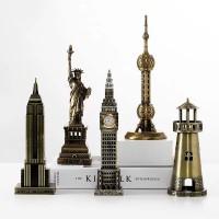 Eiffelturm Berühmte Gebäude Kreative Decor Kunst Handwerk Figurine Abstrakte Skulptur Home Office Desktop Dekoration Ornament Geschenk Figuren & Miniaturen