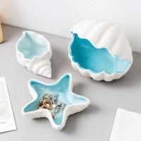 Kreative Shell Keramik Lagerung Schutt Desktop Storage Zubehör Moderne Dekoration Wohnzimmer Schlafzimmer Dekoration Geschenke Figuren & Miniaturen