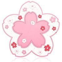 Conisy Untersetzer aus Silikon 6er Set Rutschfestes hitzebeständiges weiche Tasse Matte mit Blumen Muster – 11 5 cm Glasuntersetzer Perfekter Für Alle Trinkgläser pink