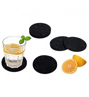 Untersetzer Filzunterlage Set von 10 Filzuntersetzer für Gläser Getränke Kaffee-Tee-Untersetzer Tischsets Coaster Wiederverwendbar 10 Stück 10x10cm Dunkelgrau