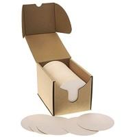 zezazu 10 cm Rund Schwergewicht Leer Weiß Papier Zellstoffplatte Saugfähig Untersetzer für Getränke DIY Handwerksprojekt Kartonpapier Zen Fliesen und Mini Kunst Bord