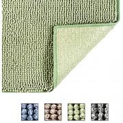 COSY HOMEER 50X80cm Badteppich aus 100% Polyester Extra weiche und rutschfeste Badezimmermatten spezialisiert auf maschinenwaschbare und wasserabsorbierende grün