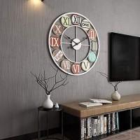 KK Timo Bügeln Sie Metallstummwanduhr Europäischen Retro- Kreativen Uhrstudienuhrgroßverkauf des Wohnzimmers Color : White Size : 40cm