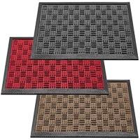 deco-mat Fußmatte für Außenbereich 40 x 60 cm Grau • rutschfeste wetterfeste Türmatte mit robusten Borsten • Outdoor Schmutzfangmatte für außen