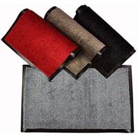 WohnDirect Fußmatte Uni einfarbig 60x90 cm Grau für Innen • Türvorleger mit starker Schmutzaufnahme zudem rutschfest & waschbar • Fußmatte in vielen versch. Größen