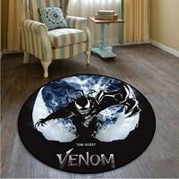 chengcheng Marvel Hero Venom Teppich Schlafzimmer Studie Kinderzimmer Foyer Anti-Rutsch-Teppich Boden Stuhl Drum Pad 100cm