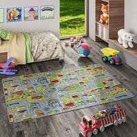 Snapstyle Kinder Spiel Teppich Abenteuerland Bunt in 24 Größen