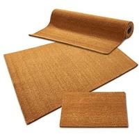 casa pura Kokos Fußmatte   Kokosmatte Meterware auch für großflächige Eingänge   Kokosfaser Natur   viele Höhen und Größen 17mm 50x80cm