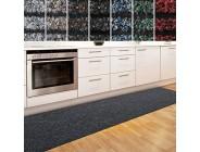 casa pura Küchenläufer Granada in großer Auswahl | strapazierfähiger Teppich Läufer für Küche Flur UVM. | Rutschfester Teppichläufer/Flurläufer für alle Böden 80x250 cm Anthrazit