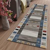 GJIF Läufer Teppich Flur rutschfest Modern Geometrisch Korridor Teppich Für Küche Wohnzimmer Schlafzimmer Breite 60cm / 80cm / 100cm/ 120cmSize:100x400cm