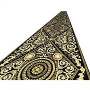 HWL Teppiche Läufer Retro rutschfeste Flur Teppich Läufer Schwarz Gold Antifouling Teppich Für Treppen Küche Balkon Eingangsdekor Maschinenwaschbar Size : 0.8×1.2m