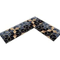 Weichuang rutschfest Küchenmatten 2 Stück Küchenläufer Mosaikmuster Saugfähig Küchenteppich Dekorative Teppich Läufer Set für Küche #1 40 * 60CM+40 * 120CM