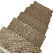 LBL Stufenmatten treppenmatten Treppenmatten Teppich Treppen Rechteckig Treter Pads Anti-Rutsch Selbstklebend Massivholz Osmanen Waschbar 9mm 3 Größen teppiche für treppenstufen