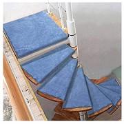 Stufenmatten QWER Selbstklebende Treppenstufen Mats Pad Anti-Rutsch-Trittschutz Teppich Abdeckung Treppen Teppich Wendeltreppe Matte Treppenteppich Color : Turn Right Size : 5pcs 80 * 33/12cm