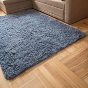 Carpeto Rugs Teppich Hochflor Wohnzimmerteppich Langflor Bettvorleger - Teppiche für Wohnzimmer Schlafzimmer Kinderzimmer - Weicher Modern Einfarbig Flauschig Shaggy - rutschfest Grau 200 x 300 cm