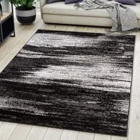 Carpeto Rugs Teppich Wohnzimmer Kurzflor Grau Modern Abstrakt Muster Öko-Tex 250 x 300 cm
