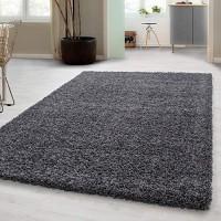 Hochflor Shaggy Teppich für Wohnzimmer Langflor Pflegeleicht Schadsstof geprüft 3 cm Florhöhe Oeko Tex Standarts Teppich Maße:160x230 cm Farbe:Grau