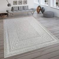 Paco Home In- & Outdoor-Teppich Flachgewebe Mit Skandi-Muster Und Sisal-Look In Cream Grösse:160x230 cm