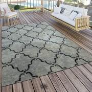 Paco Home In- & Outdoor Teppich Modern Vintage Design Terrassen Teppich Grau Grösse:240x340 cm