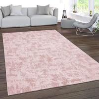 Paco Home Teppich Wohnzimmer Kurzflor Waschbar 3D Effekt Modernes Orientalisches Muster Grösse:120x180 cm Farbe:Rosa