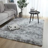 Swsen Teppich Wohnzimmer Hochflor - Flauschig Shaggy Teppiche Modern für Wohnzimmer Esszimmer Kinderzimmer Schlafzimmer - versch. Farben u. Größe Grösse: 120 x 160 cm Farbe: Grau